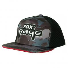 Fox Rage Camo Flat Peak Trucker Cap Sapka