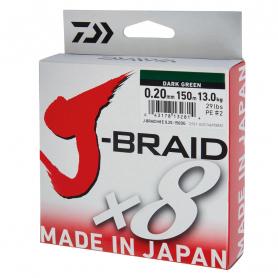 Daiwa J-Braid X8 Dark Green Fonott Zsinór 150m