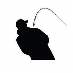 Horgász Öntapadós Matrica