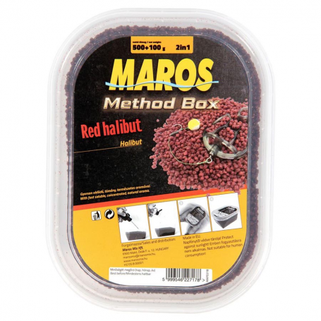 Maros Mix Method Box Red Halibut Pellet Halibut