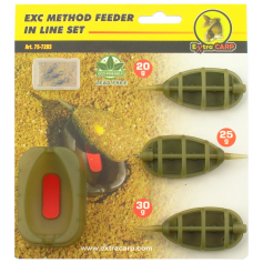 Extra Carp EXC Method Feeder In Line Szett